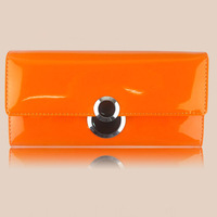 d105 New Fashion women wallet patent Genuine Leather Glossy Synthetic Leather Purse Long wallet clutch 6 Colors avaiable