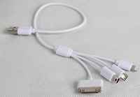1pc/lot 4 in 1 Universal USB Charging Cable for iPhone 5 5s 6/iPad/iPad mini/Samsung/HTC/LG/Sony/Mobile Phones/MP3/MP4/PSP