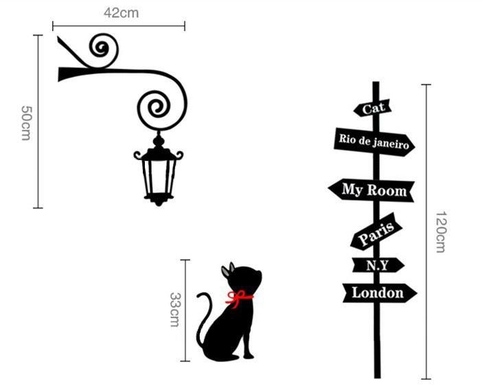 Kinderkamer Lamp Dolfijn : Cat Wall Stickers