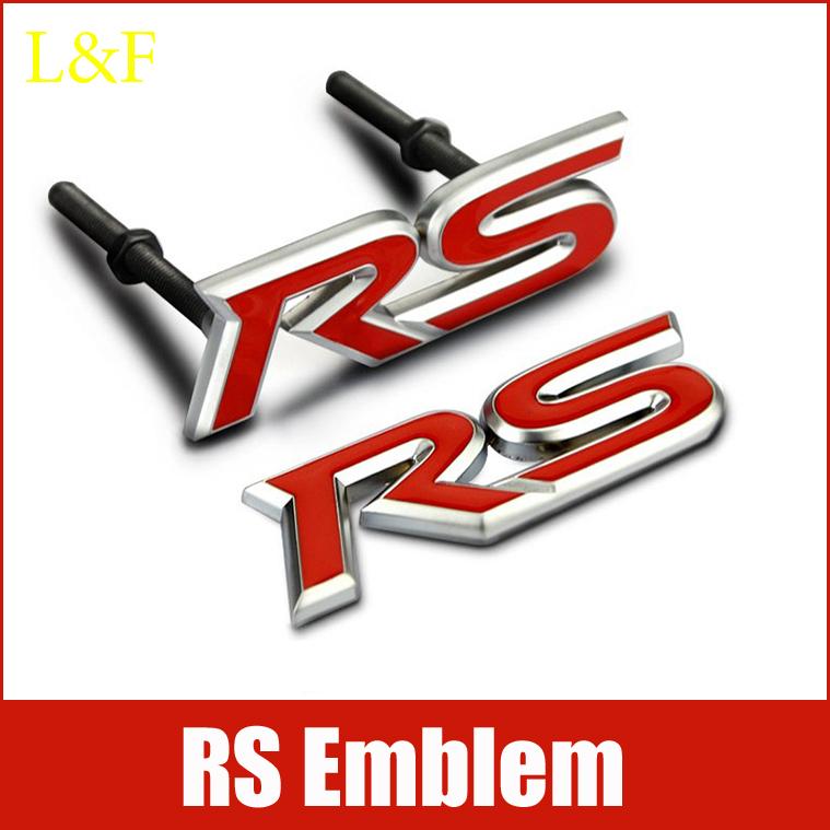 RS Emblem Sticker Badge Sticker Car Styling For Focus Chevrolet cruze Kia Rio Sportage Skoda Octavia Mazda 3,Car Decals(China (Mainland))