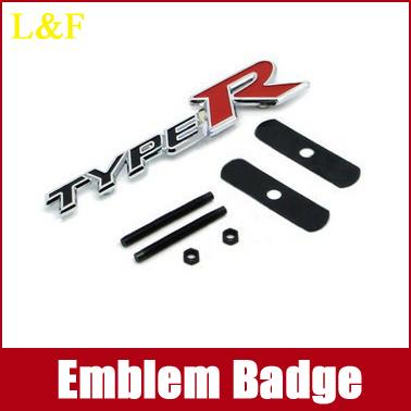 Free Shipping,3D TYPE R TYPER RACING CAR BADGE EMBLEM LOGO STICKER,car styling KIA k5 k3 k2 freddy refires(China (Mainland))