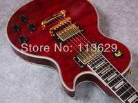 LP Electric Guitar, Custom  Shop, Ebony Fingerboard, Frets End with Binding,Golden Hadware. Quilted TRD