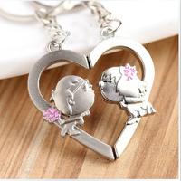 Heart keychain male key chain car keychain gift lovers angel love key ring for lover #K-12