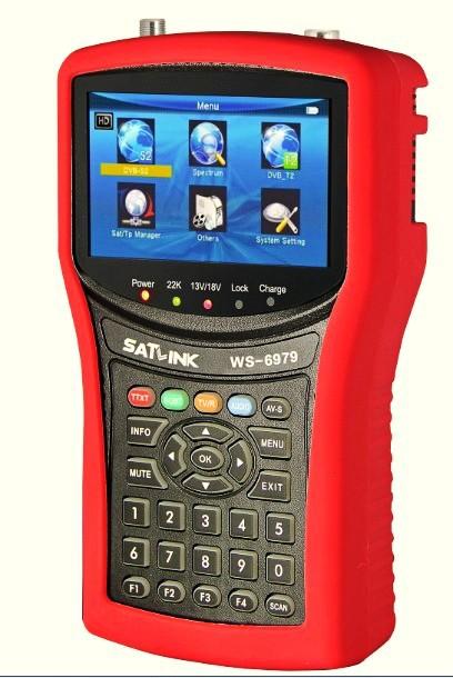 2014 New ! DHL free DVB-S2 & DVB-T2 Combo WS6979 digital satellite finder meter Spectrum analyzer constellation satellite finder(China (Mainland))