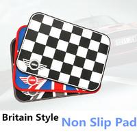 MINI car interior non slip mat, phone and cup anti-slip mat, mini cooper clubman countryman, union jack and checker flag