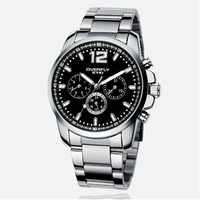 New 2014 Fashion Men Watch Business dial quartz movement waterproof stainless steel bracelet