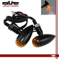 BJ-SL-016 Black Bullet Metal Motorcycle  Turn Signal Indicator For Mini Sportster Dyna Softail Bobber Chopper