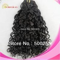 "Malaysian Vingin Hair Weave Human Hair Extensions Natural Black Hair Spiral Curl 10""-30"" In Stock"