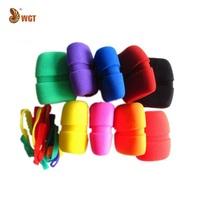 9 Pcs Multicolor Microphone Windscreen Foam Grill Color Wheel Cover Sponge Concave