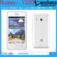 Original Huawei Y320 MTK6572 Daul core 4.0inch Dual SIM card  3G smart phone