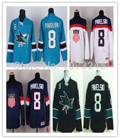 Cheap 2014 Sochi American Olympic #8 Joe Pavelski USA Jersey Team Personalized Make Customized Custom Blue White Hockey Jerseys