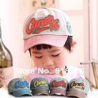 Retail 2014 Letter Children Baseball Caps, Baby Boys Girls Vintage Denim cap,Kids Spring Summer Outdoor Sun Hat Free Shipping