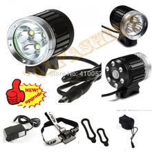 3600 lumen,3*CREE T6 LED Bicycle Bike Light Headlamp Headlight kit  4 Modes,rechargable 4*18650 Battery Pack ,free shipping(China (Mainland))