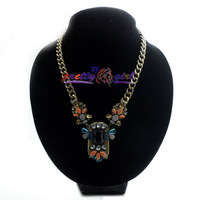 Free Shipping New 2014 Fashion Arrival Necklace  Handmade Chunky Pendant Fast Chain JZ012518