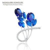 Neoglory 2014 Fashion Rhinestone Brooches Pins Wedding Broach Charm Invitations Boutonniere Brand Bridal Jewelry Gifts Wholesale