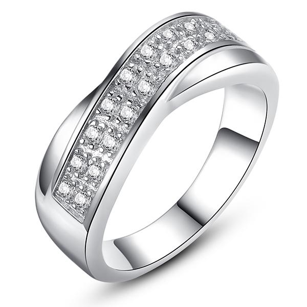 цена Обручальное кольцо Jewelora Roxi CZ RI101262 онлайн в 2017 году