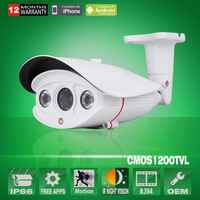 "Array IR 1/3"" 1200TVL CCTV SONY CMOS IMX138 Sensor Waterproof Security Surveillance Camera With IR-Cut OSD Control"