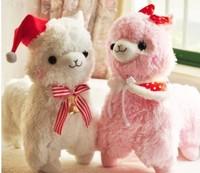 Arpakasso alpaca soft doll 45cm 2pcs/lot plush toys christmas series  stuffed animal doll for baby car docoration