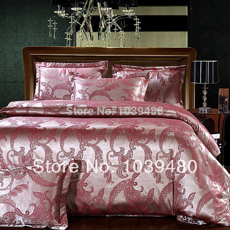 tencel satin silk bedding set bedclothes bed linen set