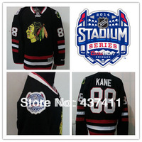 2014 Stadium Series Chicago Blackhawks Ice Hockey Jerseys #88 Patrick Kane  Black Jersey Free shipping New Arrival !!!