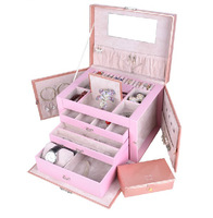 Free shipping Luxurious the jewelry box  of large capacity , earrings necklaces pendants display box wedding gifts packing box