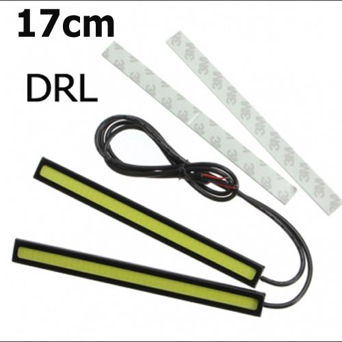 Ultra-thin 15W COB Chip New update 17cm LED Daytime Running Light 100% Waterproof LED DRL Fog car day running lights(China (Mainland))