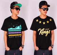 2014 new Spring Summer LK last kings men t shirt asap rocky rockstar rock music shirts brand men hiphop t-shirts hip hop music