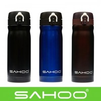 SAHOO 350ML Camping Cycling Double Layer Stainless Steel Thermal Vacuum Insulation Water Bottles Sports Bicycle Water Bottle