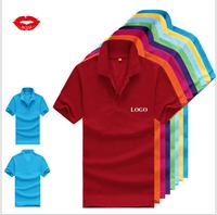 Men's fashion short-sleeved blank polo shirts Customizable shirts free shipping 180g