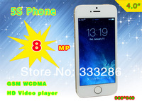 5s i5 Phone MTK6572 dual core 4.0 inch 960*540 ips screen I5 phone Global 512 RAM+ 8GB ROM original logo smartphone