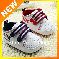 2014 New Baby Soft bottom Shoes Boy's White PU Shoes Baby boy's First Walkers Shoes Spring infant toddle shoes 2colors JJ96