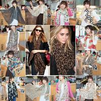 Min.order is $5 Brand 2014 New Fashion Spring Summer Silk Scarf Women Winter Warm Tassel Scarf Wrap Shawl Scarves Infinity 80056