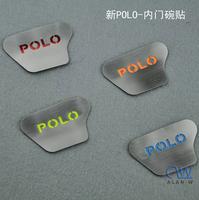 Vw polo door inside bowl metal stickers scratch-resistant polo refit bowl  paillette