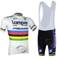 Free shipping 2014 new Team LAMPRE  White Cycling Jersey short sleeve Shorts set mens Bike Clothing Cycle(Bib) Sport Wear
