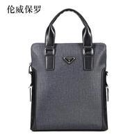 Man bag shoulder cross-body PVC handbag business casual bags boutique