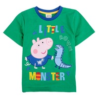 Free shipping new 2014 Baby boy baby clothing short sleeve fashion hot sale printing 100 cotton peppa pig  boys t shirts C4495#