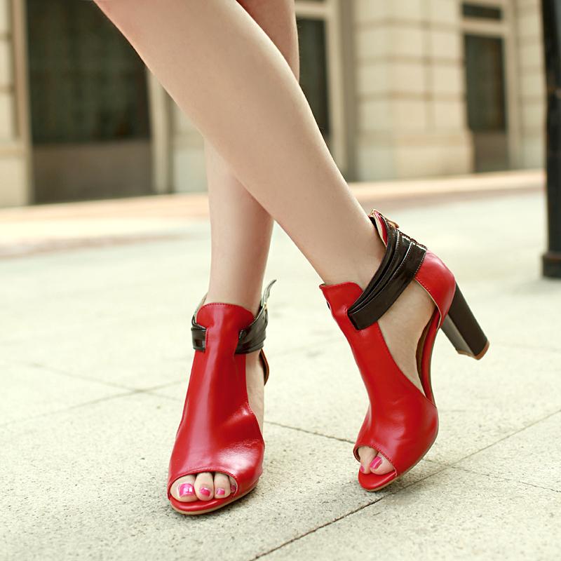 Wonderful 2017 Summer Shoes Flat Sandals Women Aged Leather Flat