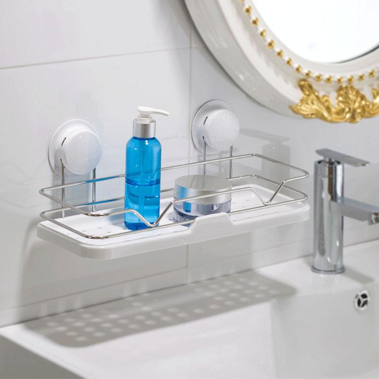 Hacer Estantes Para Baño:Baño estante de acero inoxidable pared estante de almacenamiento de