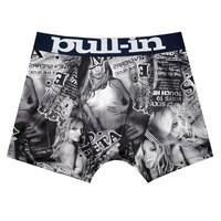 Free Shipping Trend Fashion Brand Pull In Black Full Rabbit Print Cheap Man Boy Fashion Blue Letter Best Gift Underwear Boxer
