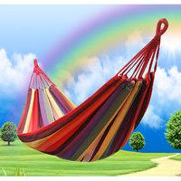 Free shipping Outdoor Hammock Thickening Casual Canvas Single Hammock Lashing Bag Indoor Strap Swing