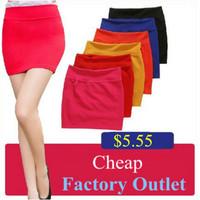 Spring Summer Candy Color Elastic Bust Skirt Slim Bag Hip Step Skirts Short Skirt For Woman