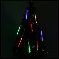 White/blue 20cm 80Leds Shower Meteor Rain Light Tube Christmas Decoration Lights US plug