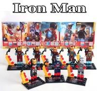 Iron Man 8 styles, SY185 Super Heros Blocks Doll, Avengers Alliance, Children Assembled Building Blocks Toys. No Original Box