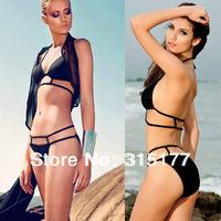 Free shipping Hot Black Sexy Strappy Bikini Swimwear 2014 Newest Sexy Swimwear Wholesale 10pcs/lot  40637
