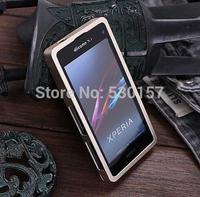 for Xperia Z1 Compact Aluminum Bumper, New Arrival Ultra-Slim Metal Bumper Case For Sony Xperia Z1 Mini, with retail box