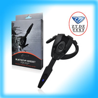 For Playstation 3 Black Wireless Bluetooth Game Earphone Headset Headphone for PS3 With Retail Package