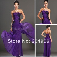 Designer 2014 New Sexy Off Shoulder Dress Party Evening Elegant Modest Plus Size Purple Prom Dresses