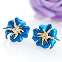New 2014 Azaleas upscale atmosphere exaggeration small starfish earrings Rhinestone earrings ear clip / Ear Stud For women 0