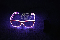 EL glow/flashing wire glasses--  pink frame