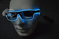 EL glow/flashing wire glasses--blue light